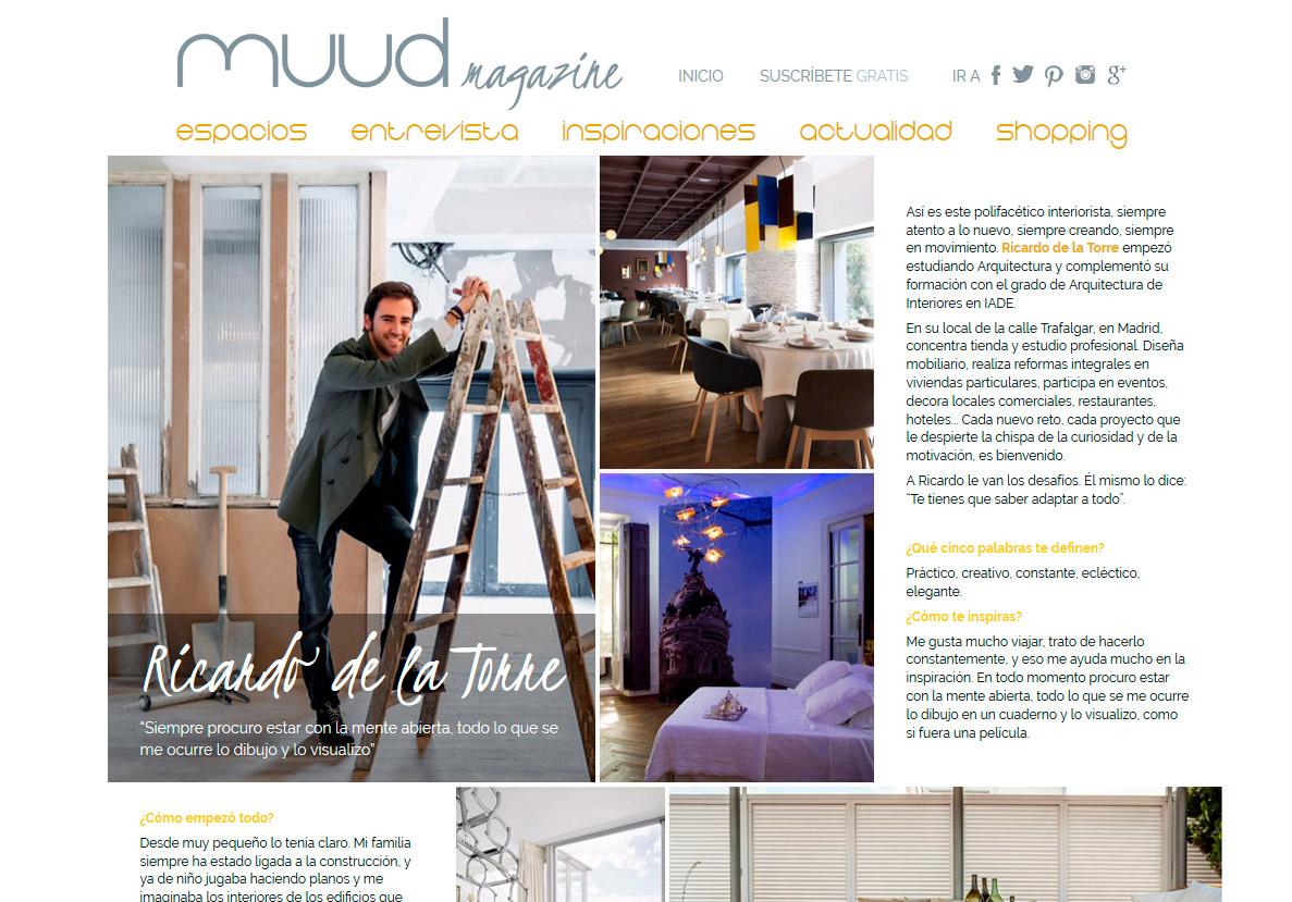 Interview on Muud Magazine